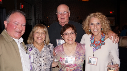 Jim Damiani, Robyn Krieger, Judy Eisenberg, Barbara Fishberg; Back: Jerry Cole